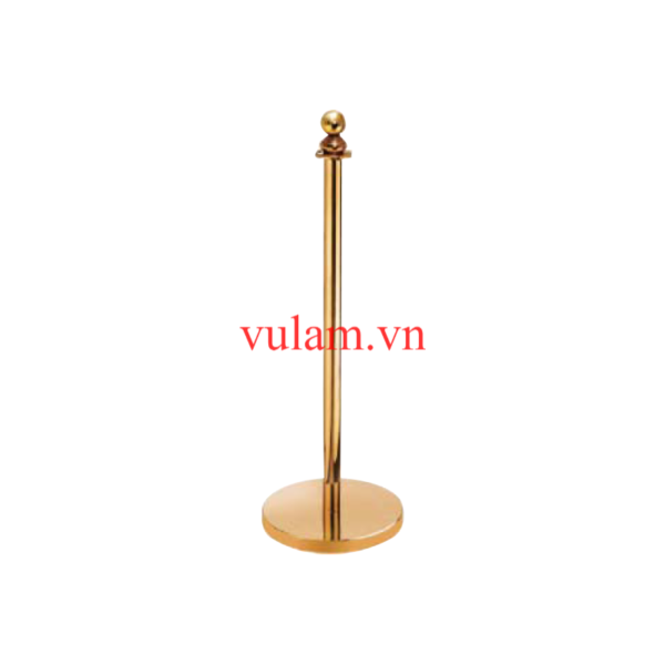 Cột chắn inox dây nhung mạ vàng VB-CT1M