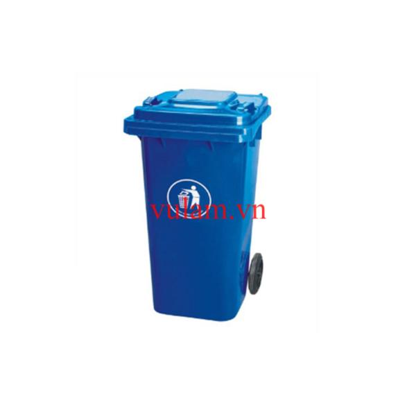 thùng rác nhựa 120 lít màu xanh nước biển