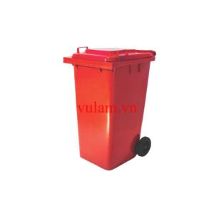 thùng rác nhựa 240 lít màu đỏ